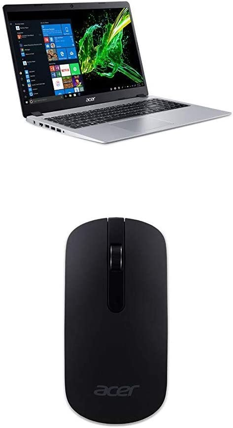 Acer Aspire 5 Slim Laptop A515-43-R19L with Acer Slim Wireless Optical Mouse - Black