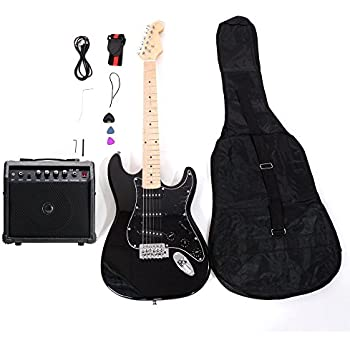 isin full size electric guitar for music lover beginner with amp and accessories. Black Bedroom Furniture Sets. Home Design Ideas
