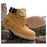 Safety Girl GS003-Tan-7.5M Steel Toe Work Boots
