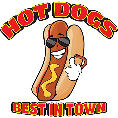 "HOT DOGS ALL BEEF 12"" Concession Decal sign cart trailer stand sticker equipment"