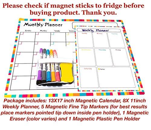 Magnetic Dry Erase Calendar for Fridge:13