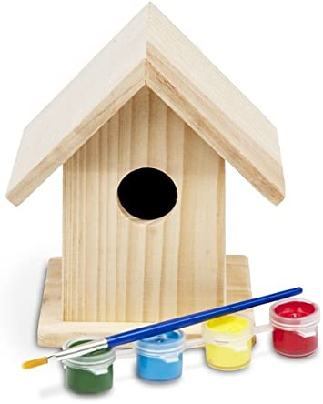 Buiten speel - Madera para Manualidades: Buiten Speel Wooden Build Your Own Birdhouse: Amazon.es: Juguetes y juegos