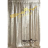 DUOBAO 7FTX6FT--SEQUIN PHOTO BACKDROP, Wedding Photo Booth,Photography Background FOR Christmas (Champagne)