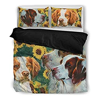 Image of Lovely Brittany Dog Print Bedding Set