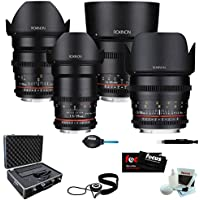 Rokinon Cine DS Super-Fast T/1.5 4-Lens Bundle (24mm, 35mm, 50mm & 85mm) for Sony E mount (NEX)