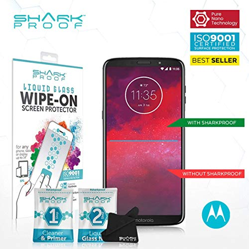 Turbo Shark - Premium Shield Liquid Glass Screen Protector with 9H Hardness for Motorola Moto G, Droid Turbo/Shark Proof Liquid Glass Screen Protector Invisible & Bubble Free, Scratch Resistant, Water Repellent,