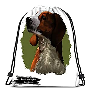 Randell Backpack Drawstring Bag American English Coonhound 4