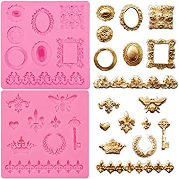 Funshowcase Steampunk Style Parts Silicone Mold for Sugarcraft, Resin Epoxy, Polymer Clay Crafting Projects