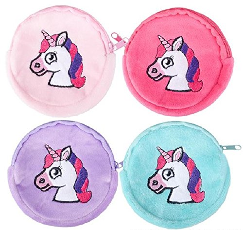 Rhode Island Novelty Lot of 12 Unicorn Coin Purses Girl's Birthday Party Favors Fantasy Zipper Pouch by Rhode Island Novelty