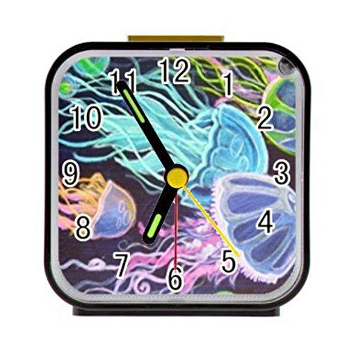 LiFei Business Jellyfish Jelly Fish Custom Square Black Alarm (Jelly Clock)