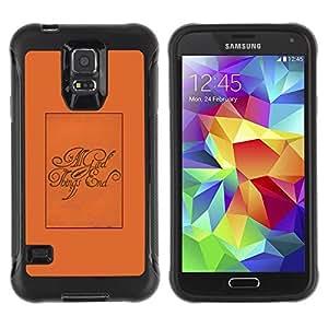 Suave TPU Caso Carcasa de Caucho Funda para Samsung Galaxy S5 SM-G900 / All Good Things End Poster Text / STRONG