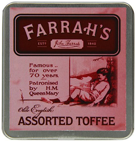 (Farrah's of Harrogate Toffee - 100g Olde Fashioned 'Assorted' Flat Tin)