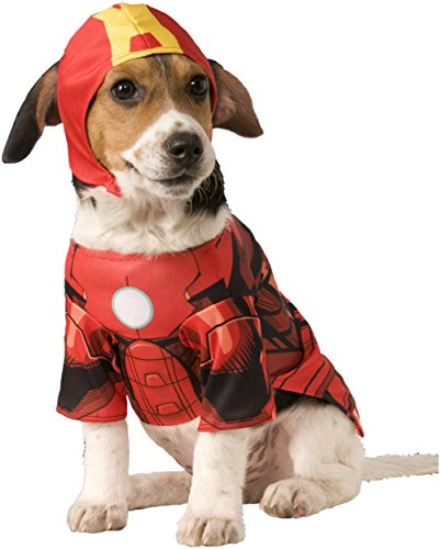 [Rubies Costume Company Marvel Classic/Marvel Universe Iron Man Pet Costume, Medium] (Iron Man Cat Costume)