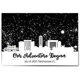Custom Personalized Skyline Star Constellation Map, Star Chart, Custom Birthday Wedding Engagement Anniversary Baby Present, Night Sky Poster