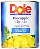 Dole Pineapple Chunks in Heavy Syrup, 108 Ounce Cans (Pack of 6)