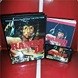 Taka Co Rambo 3 Japan Cover with box and English manual for Sega MegaDrive Genesis Video Game Console 16 bit MD card