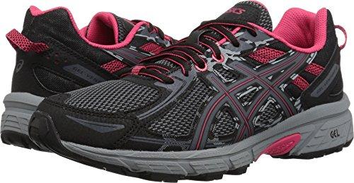 ASICS Womens Venture 6 Running Sneaker, Black/Pixel Pink, Size 5