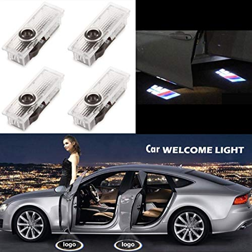 Excellent 4 Pieces of Car Door LED Logo Step Lights Welcome Lights Shadow Projector