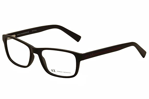 87bf89ac417 Armani Exchange AX3021 Eyeglass Frames 8078-54 - Matte Black AX3021-8078-54