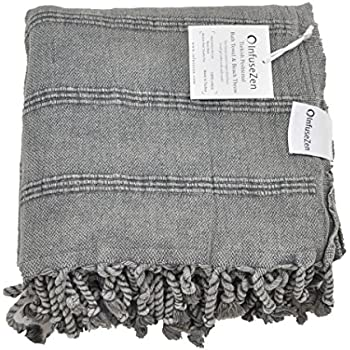 this item stonewashed turkish towel infusezen thin u0026 absorbent bath towel beach towel and pool towel large cotton stone washed peshtemal towels weaved in - Turkish Towels