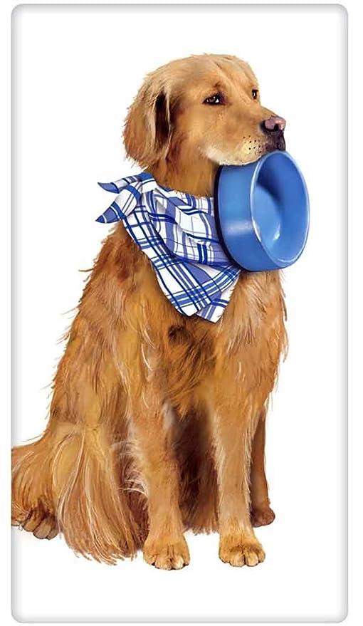 Amazon.com: dorado Retriever perro Plato perro Harina Saco ...