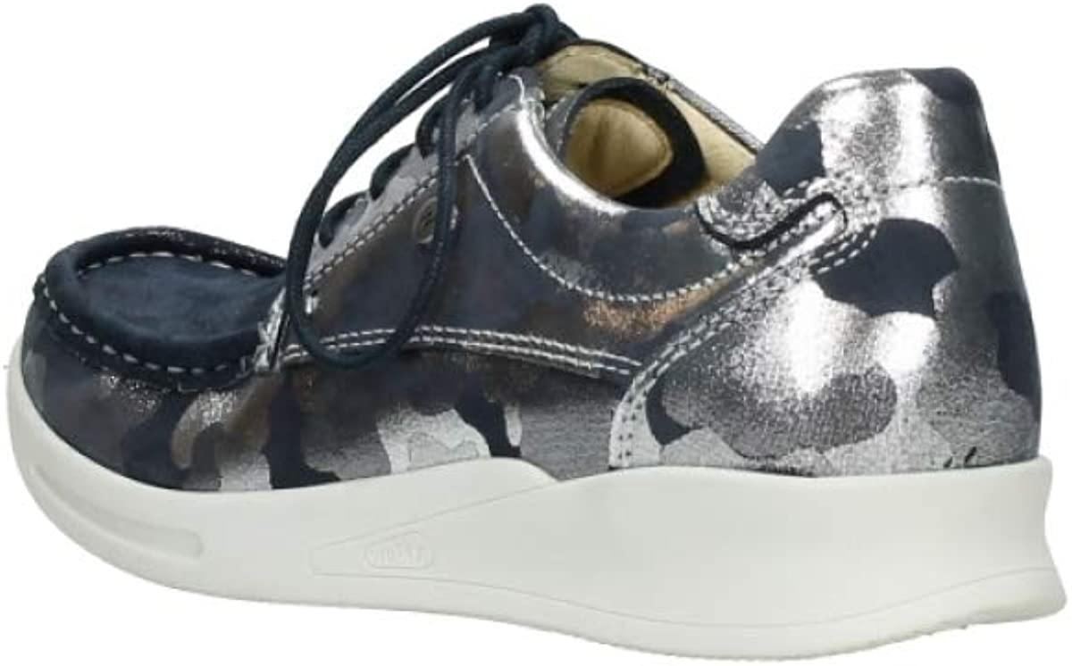 Wolky Comfort Sneakers One 14870 Blau Sommerliches Metallic Camouflage Stretc