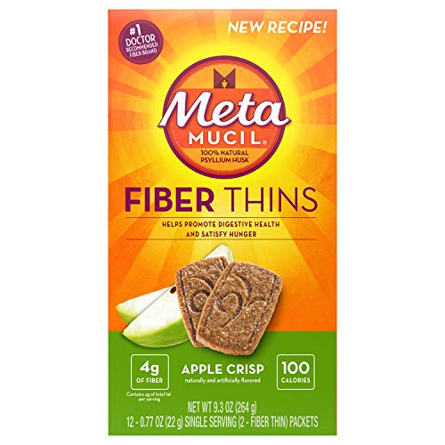 - Metamucil Meta Multi-grain Fiber Wafers by Meta, Apple Crisp, 24 count (Pack of 3)