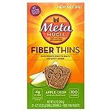 Metamucil Multi-grain Fiber Wafers by Meta, Apple Crisp, 0.77 oz -2 wafer pack, 12 count (Pack of 3)