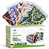 WeCare Disposable Face Masks For Kids, 50 Sport Collection Face Masks, Individually Wrapped