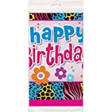 Wild Birthday Plastic Tablecloth, 84