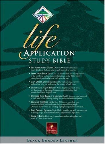 Life Application Study Bible, New Living Translation Black Bonded Leather (1996-08-26)