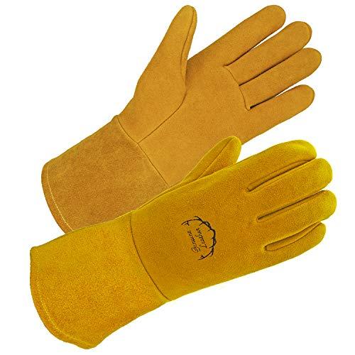 - SD0039W/L -SKYDEER Premium Genuine Deerskin Leather Hi-Performance Welding Gloves