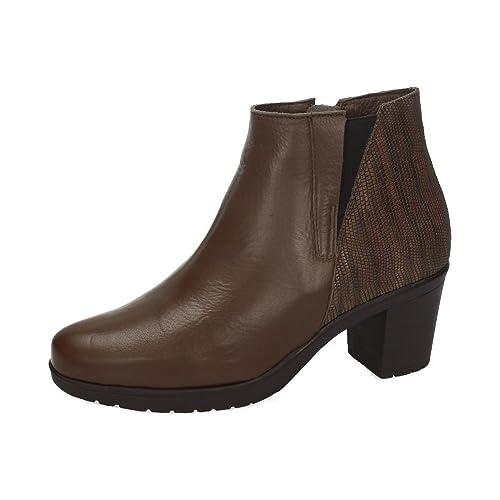 PAULA URBAN 16-382 BOTÍN DE TACÓN Mujer Botines VISÓN 41: Amazon.es: Zapatos y complementos