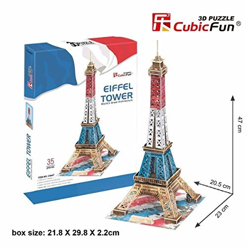 Eiffel Tower in Paris 3D Puzzle France French Color