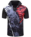 ZITY Mens Polo Shirt Cool Quick-Dry Sweat-Wicking Color Block Short Sleeve Sports Golf Tennis T-Shirt(Drb-2XL)