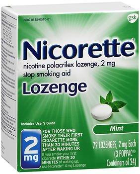 Nicorette Lozenges Stop Smoking Aid Mint 2 mg - 72 ()