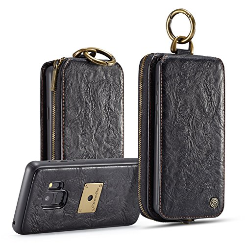 S9 Plus Zipper Wallet Case,AKHVRS Premium...