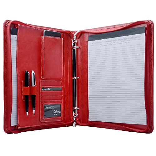 (iCarryAlls Zippered Ring Binder Portfolio Organizer, Business and Interview Portfolio Padfolio with 3-Ring)