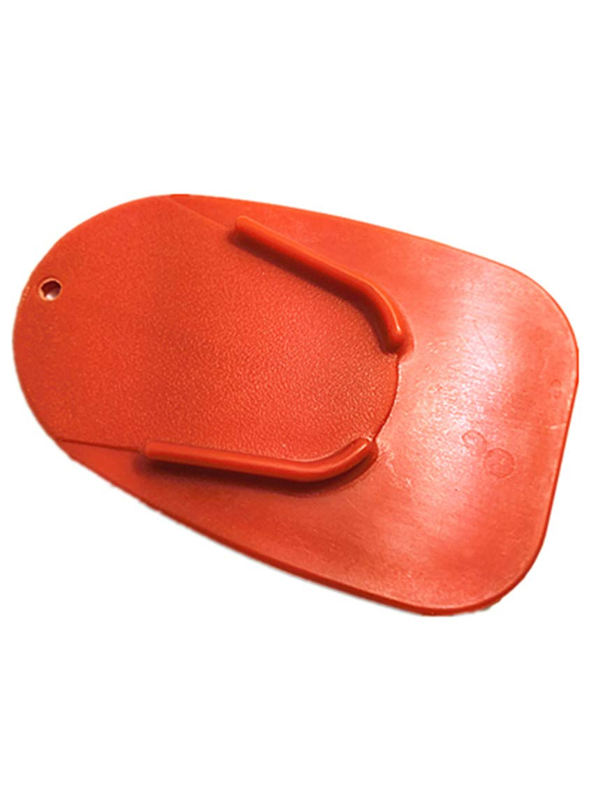 TM RED DELUXEMOTO Motorcycle Kickstand Pad Hard Motorcycle Parking Stand for Harley Davidson Durable Kick Stand Coaster Support Plate Helps Park Your Bike on Hot Pavement Grass Soft Ground