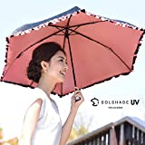 solshade(ソルシェード) 折りたたみ日傘 晴雨兼用 軽量 完全遮光 002 ブラックフリル 収納ケース付き