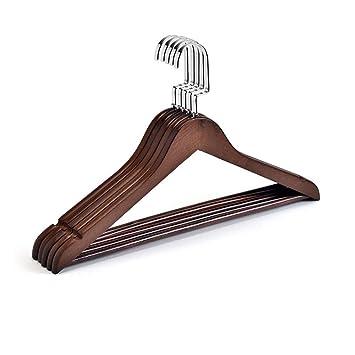SYT Hangers Percha de Madera Maciza Armario casero Ropa ...