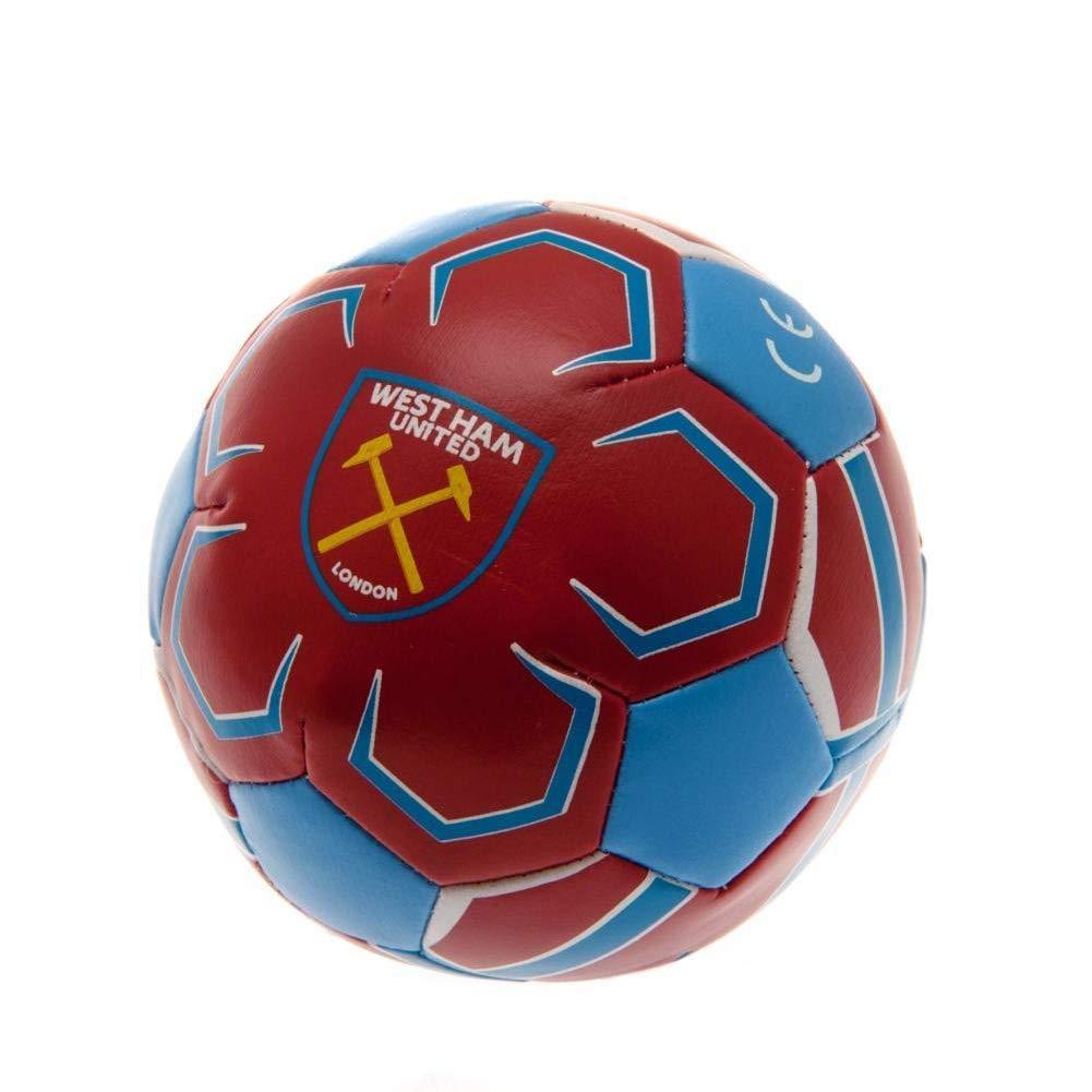 West Ham United FC - Pelota blanda 10cm (Talla Única) (Rojo/Azul ...