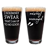 Marauder's Map: I Solemnly Swear That I Am Up to No Good and Mischief Managed Pints (Set of 2 Glasses) Review