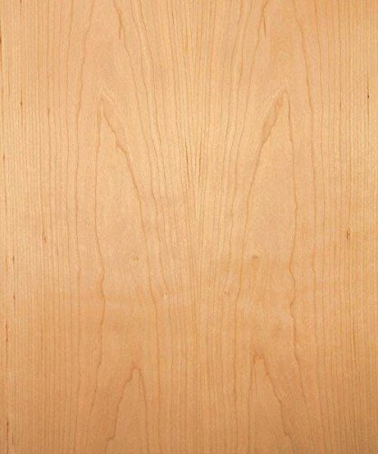 Cherry Wood Veneer, Flat Cut, Premium Grade, 4'x8' PSA Adhesive Back by DIY Veneer Express