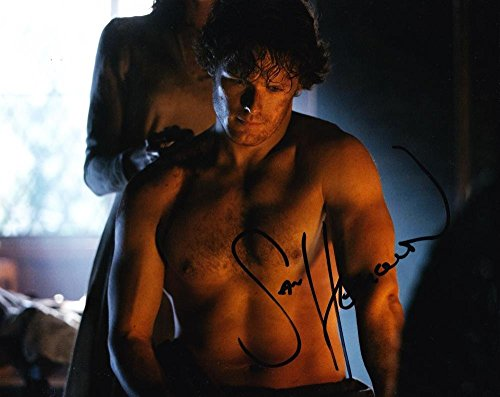 (HOT SEXY SAM HEUGHAN OUTLANDER SIGNED 8X10 PHOTO AUTHENTIC AUTOGRAPH COA PROOF H)