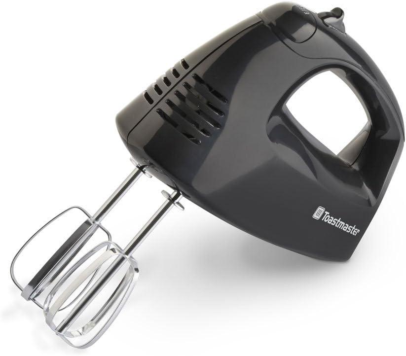 Toastmaster TM-201HM 125-Watt Hand Mixer, Black