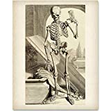 Death Comes in Time - 11x14 Unframed Art Print - Makes a Great Gift Under $15 for Gothic Culture Lovers