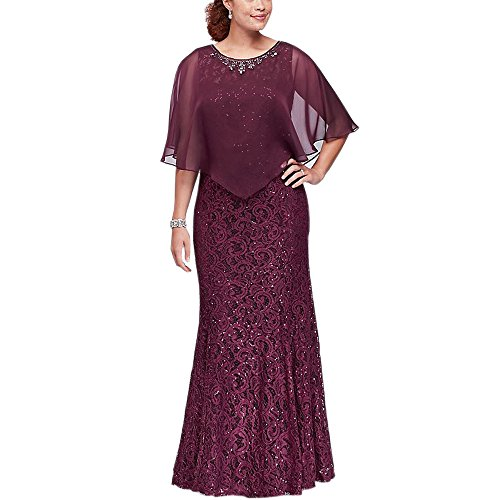 Ike Chimbandi Full Lace Sheath Sequined Mother of the Bridal Dresses with Cape