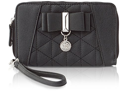 Jessica Simpson Hailey Wristlet Zip Around Wallet - Black
