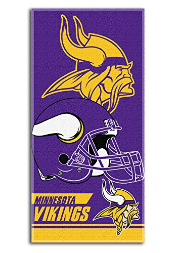 NFL Minnesota Vikings Double Covered Beach Towel, 28 x -